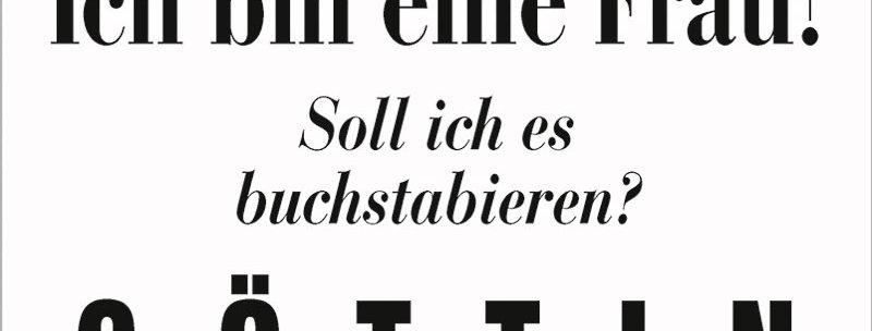 """Kult-Schild """"G-Ö-T-T-I-N"""""""