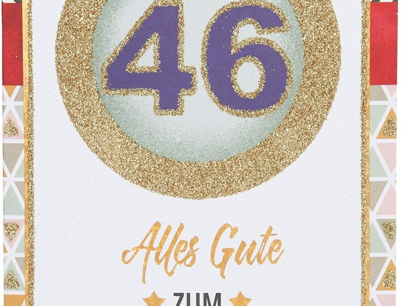 Glückwunschkarte zum 46. Geburtstag