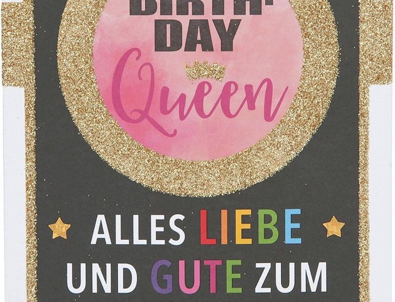 """Glückwunschkarte """"Birthday Queen"""""""