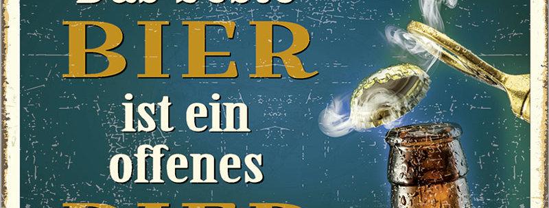 """Kult-Schild """"Das beste Bier"""""""