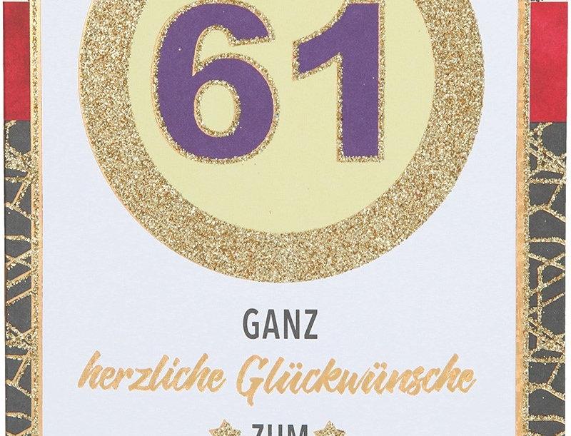 Glückwunschkarte zum 61. Geburtstag