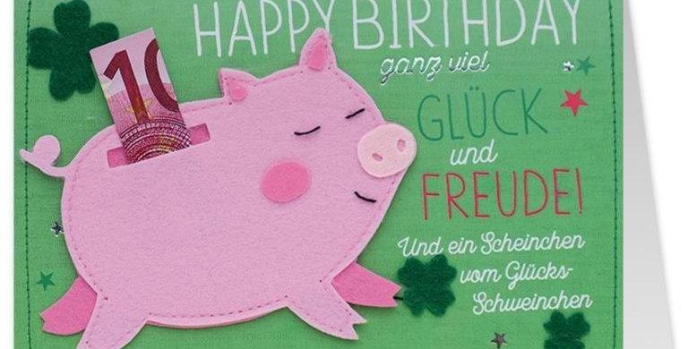 Geburtstagskarte für Geldgeschenk