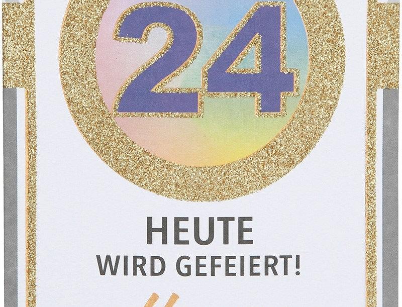 Glückwunschkarte zum 24. Geburtstag