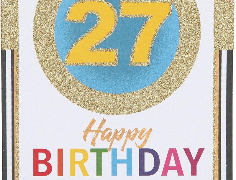 Glückwunschkarte zum 27. Geburtstag