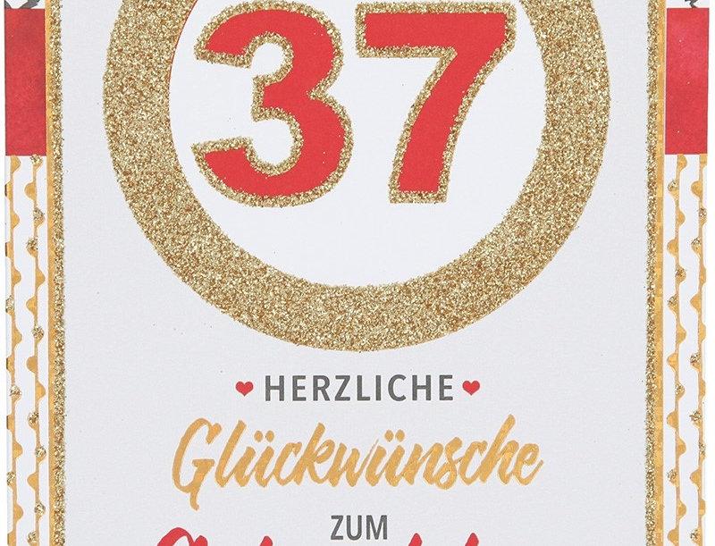 Glückwunschkarte zum 37. Geburtstag
