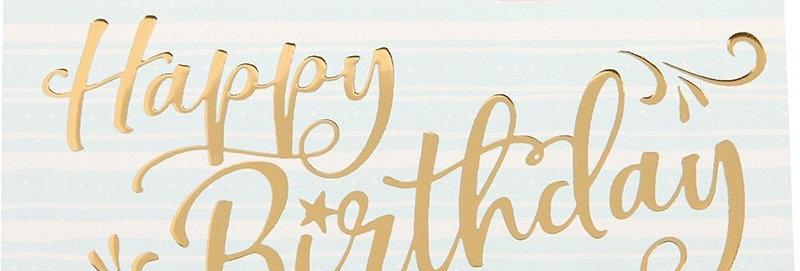 Geburtstagskarte mit Goldfolien Prägung