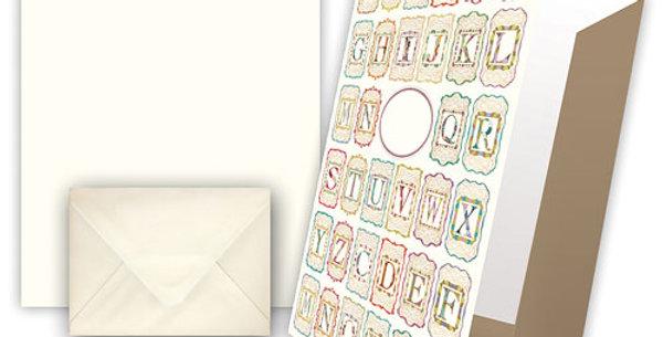 """Briefpapier """"Motiv Alphabet"""""""