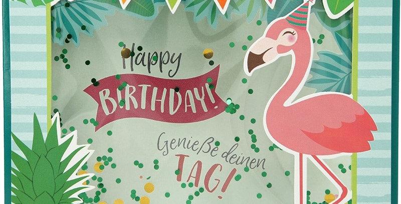 Konfetticard: Happy Birthday! Genieße deinen Tag!