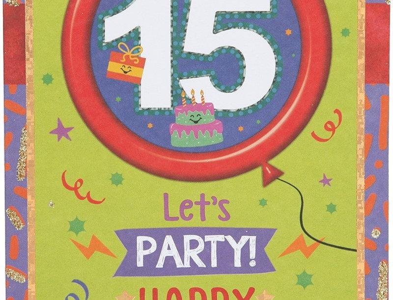 Glückwunschkarte zum 15. Geburtstag