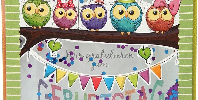 Konfetticard: Wir gratulieren zum Geburtstag