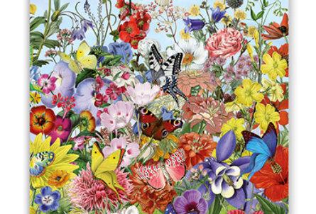 Geburtstagskarte Blütenparadies