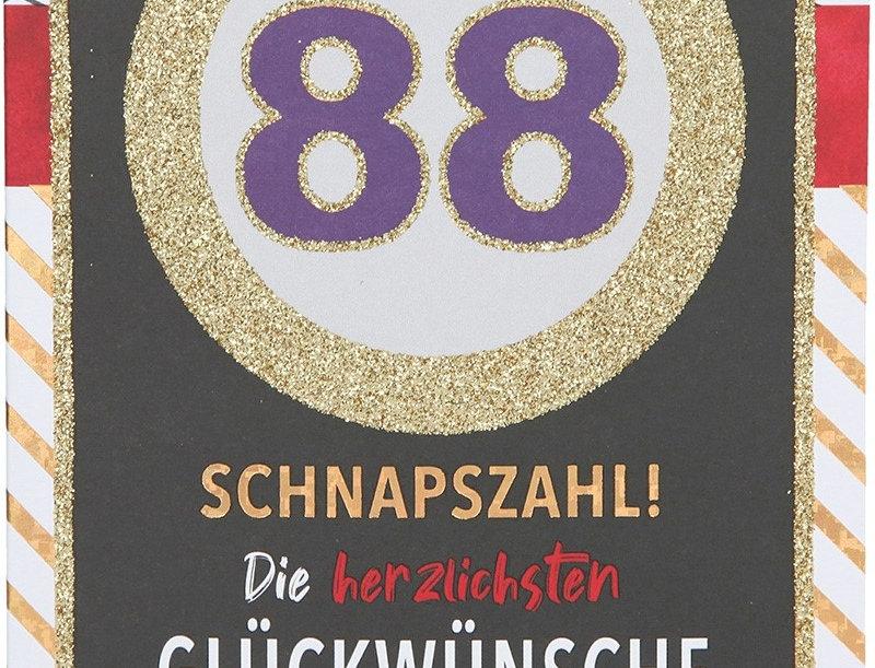 Glückwunschkarte zum 88. Geburtstag