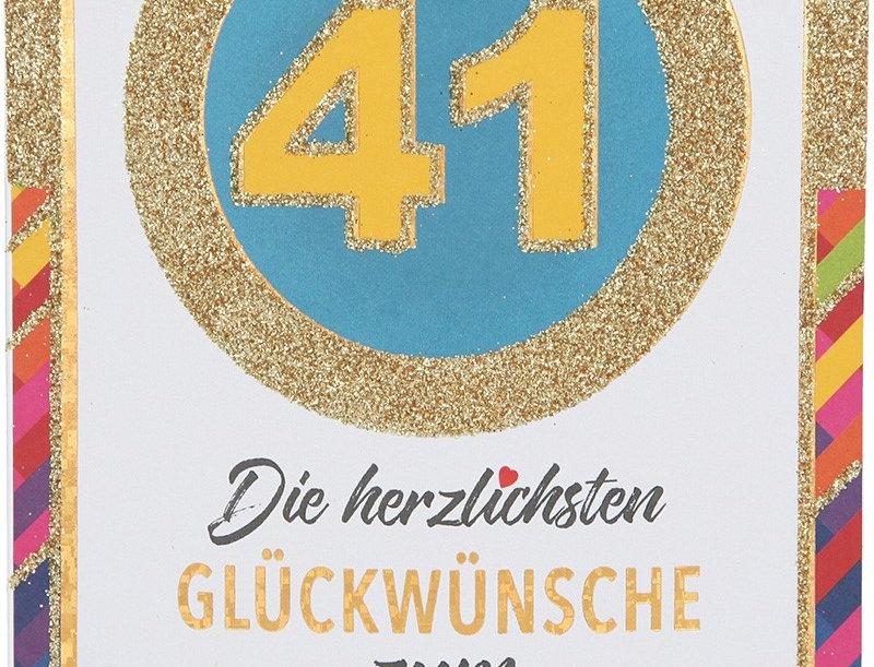 Glückwunschkarte zum 41. Geburtstag