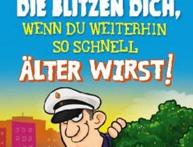 """Geburtstagskarte """"Blitzer"""""""