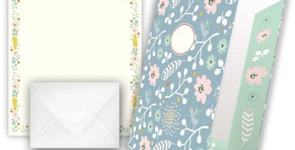"""Briefpapier """"Motiv Blüten pastellfarben"""""""