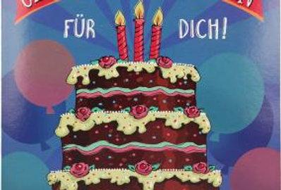 Geburtstagskarte mit Geburtstagstörtchen