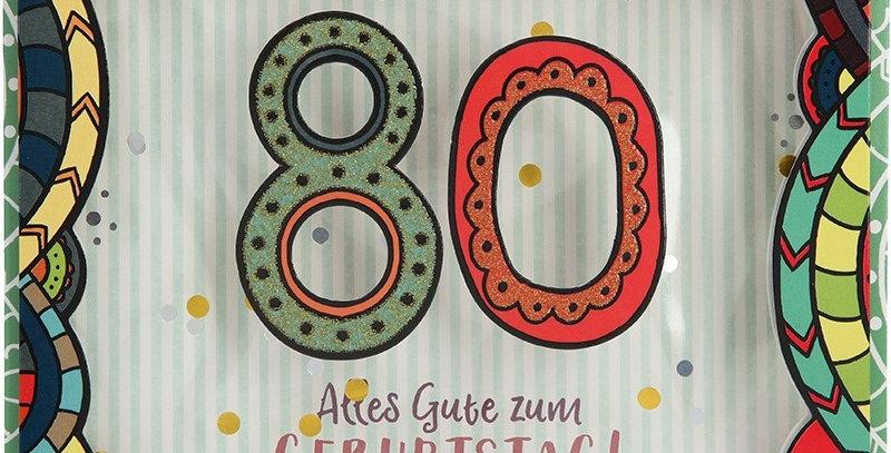 Konfetticard: Lass dich feiern! 80 Alles Gute zum...