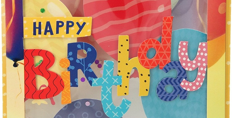 Konfetticard: Happy Birthday!