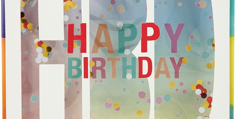Konfetticard: Happy Birthday