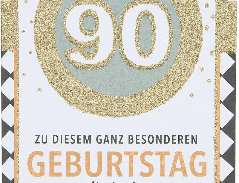 Glückwunschkarte zum 90. Geburtstag