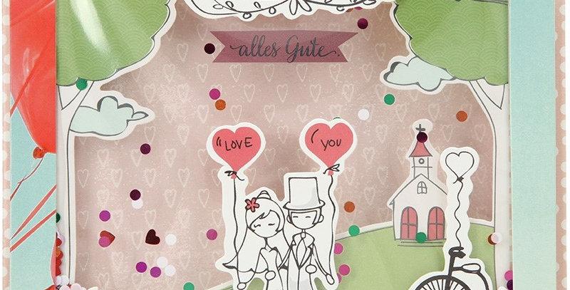 Konfetticard: Zur Hochzeit alles Gute