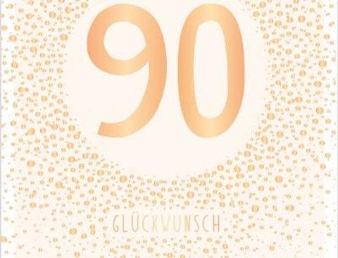 Geburtstagskarte zum 90.  Geburtstag