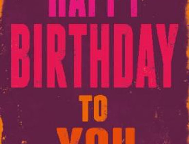 Geburtstagskarte mit Torte