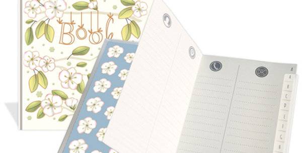 "Adressbuch ""Motiv Blumen"""