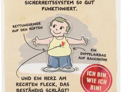 """Geburtstagskarte """"Männer ohne Bauch..."""""""