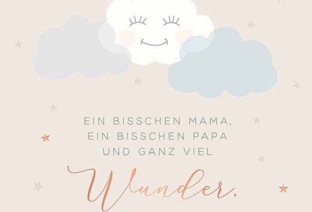 """Glückwunschkarte zur Geburt """"Ganz viel Wunder"""""""