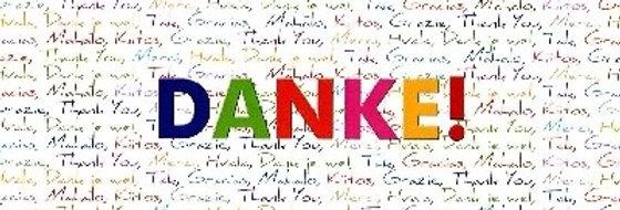 """Glückwunschkarte """"Danke"""""""