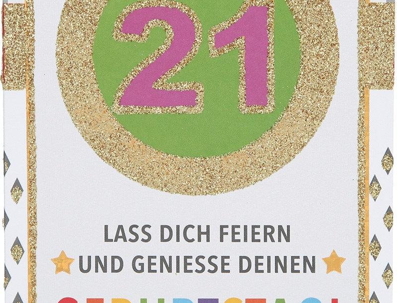 Glückwunschkarte zum 21. Geburtstag