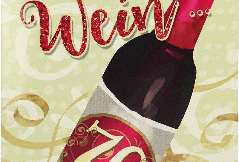 Geburtstagskarte Weinflasche mit Überraschung