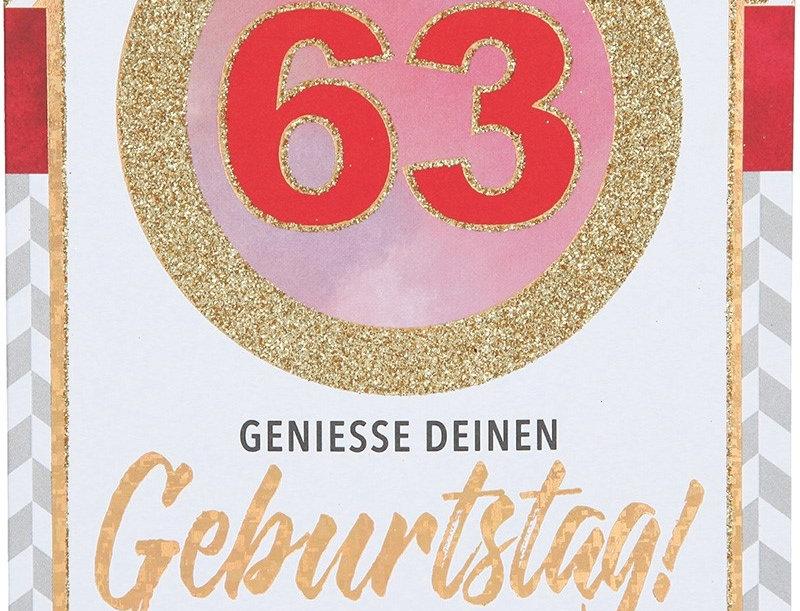 Glückwunschkarte zum 63. Geburtstag