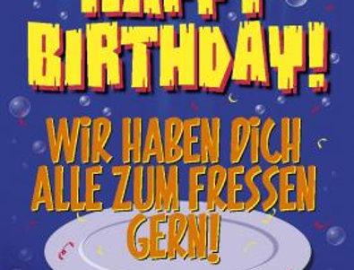 """Geburtstagskarte """"zum Fressen gern"""""""