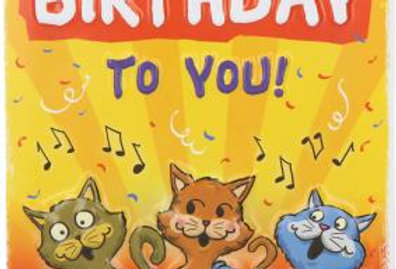 "Geburtstagskarte ""Katzengeburtstag"""