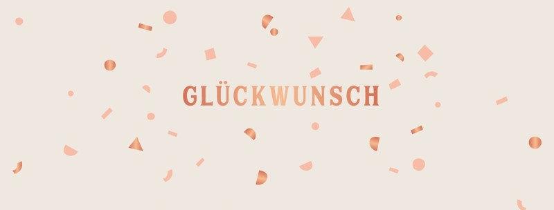 """Karte """"Glückwunsch"""""""