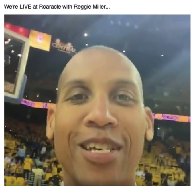 Reggie Miller at the NBA Finals
