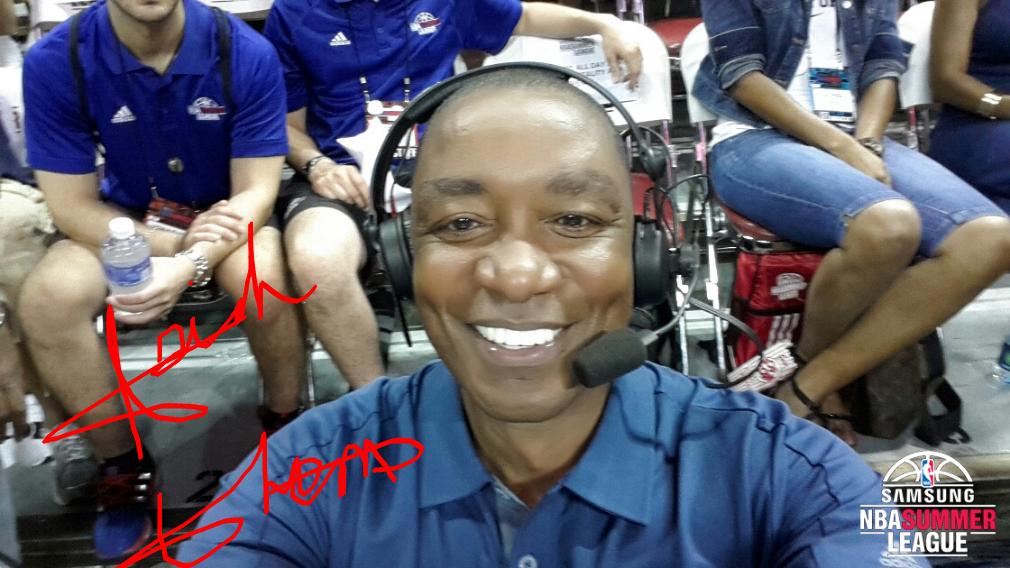 Isiah Thomas signed selfie