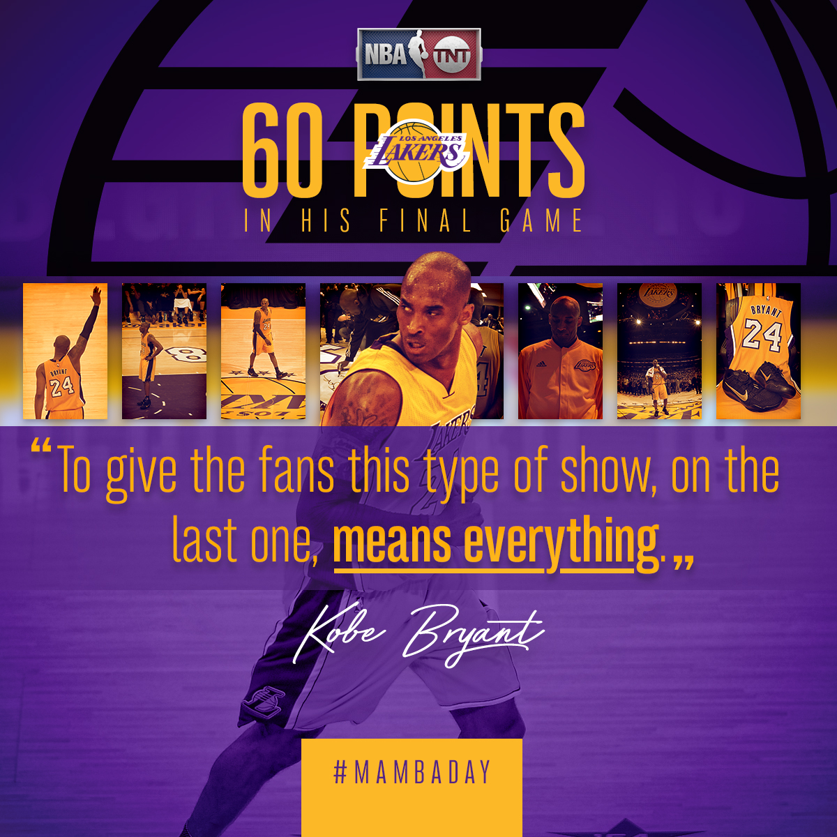 Kobe's last game graphic
