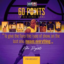Kobe's last game graphic