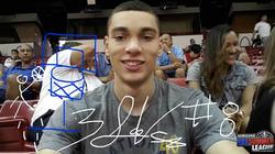Zach LaVine signed selfie