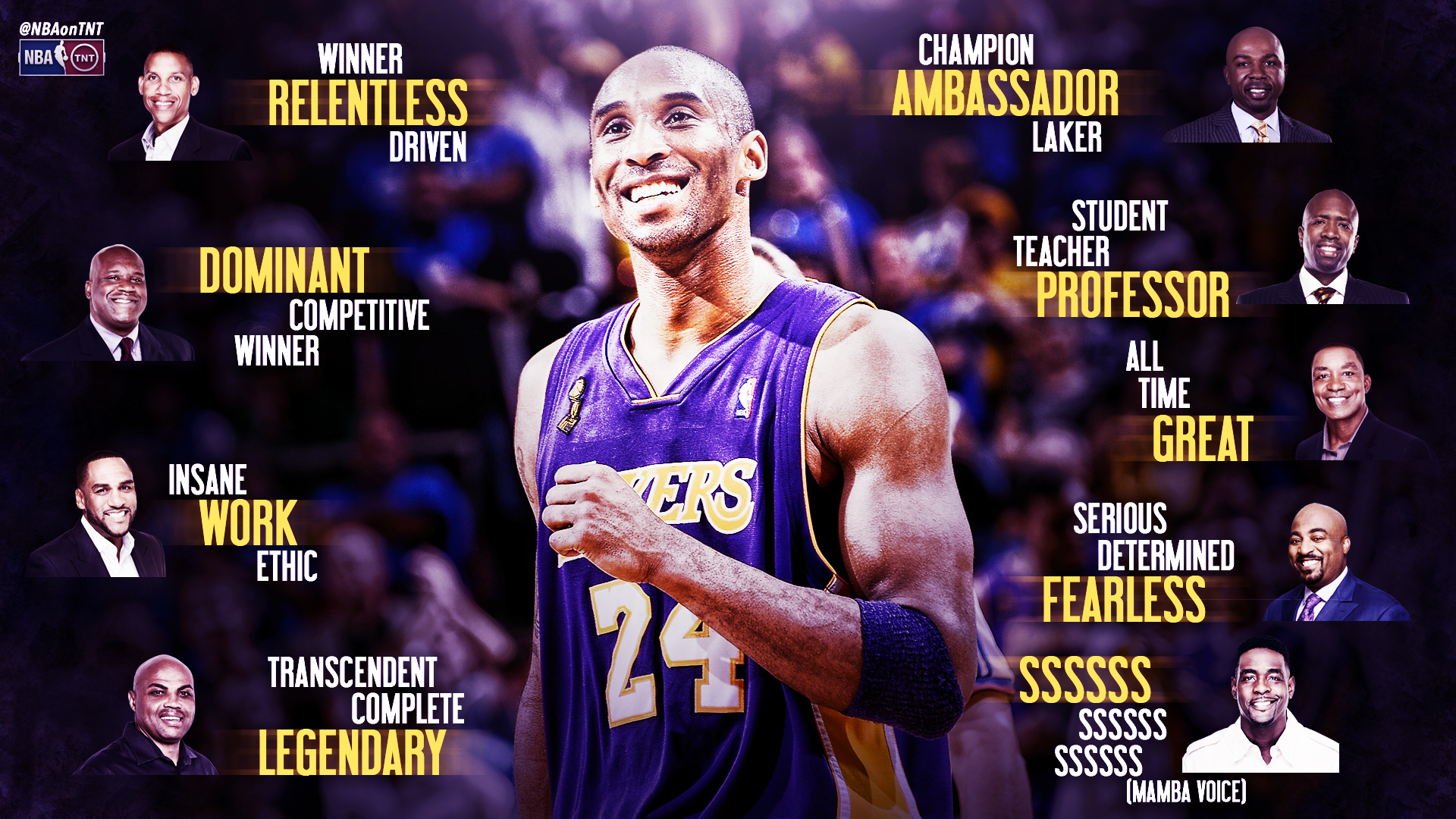 Three words to describe Kobe
