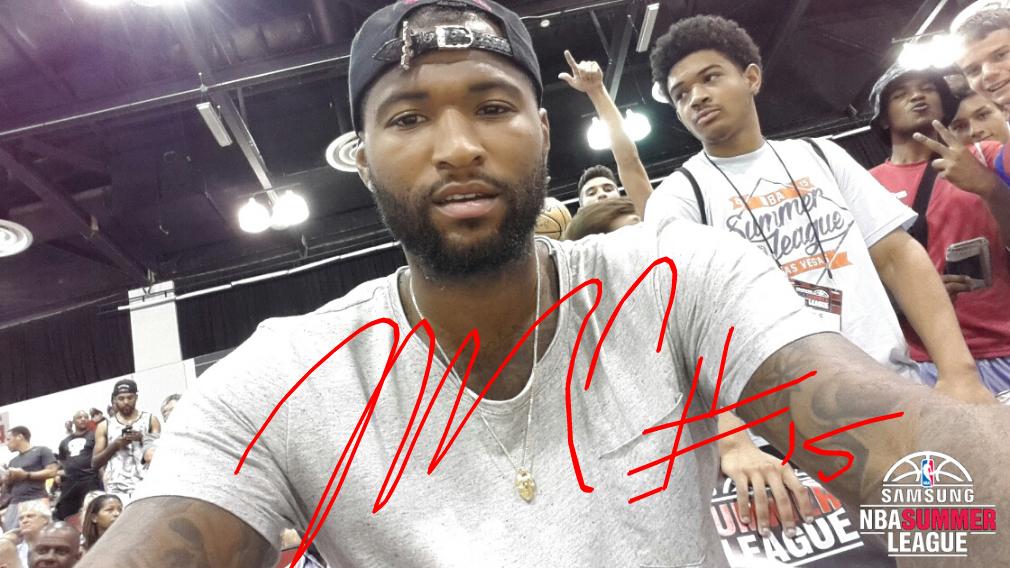 DeMarcus signed selfie