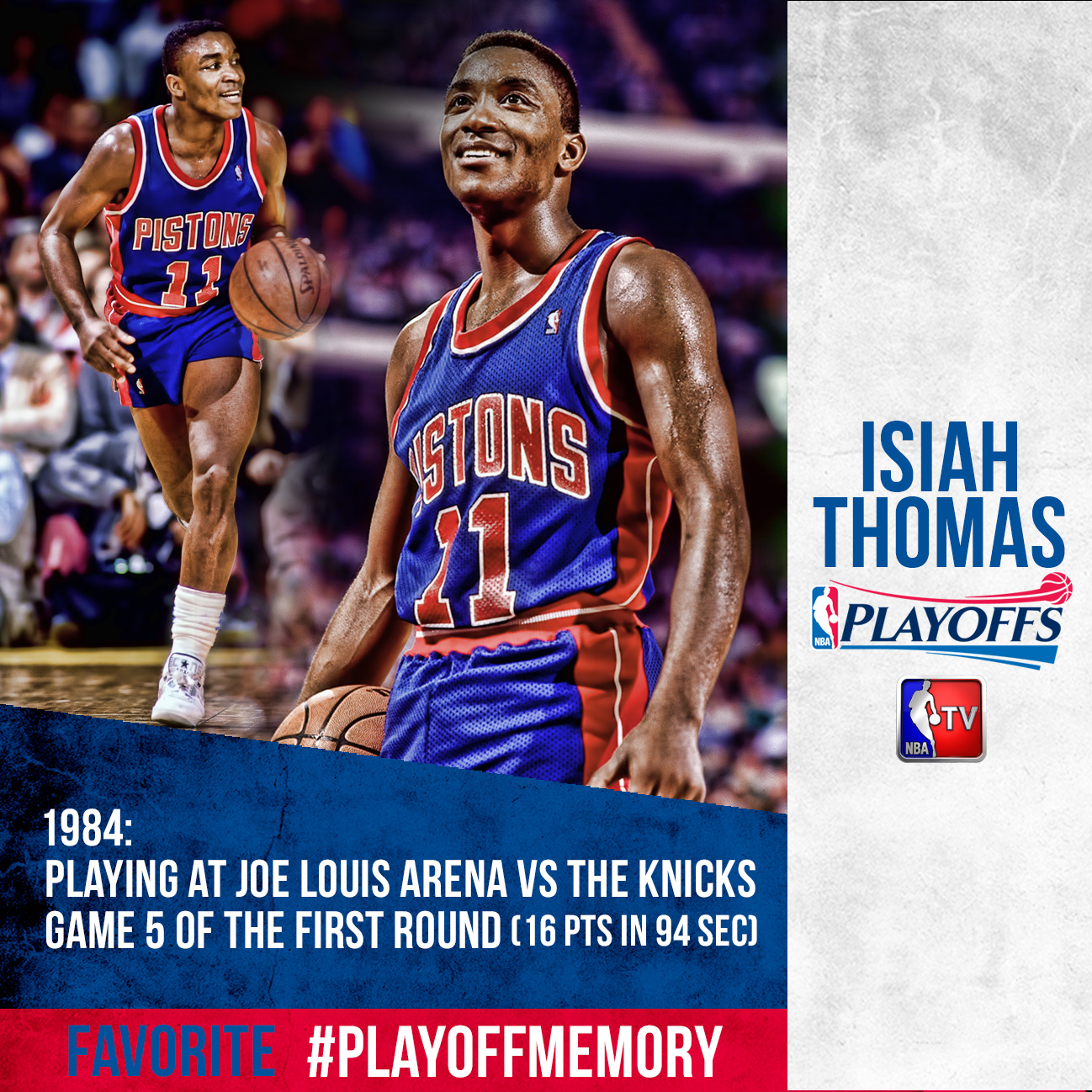 Isiah Thomas - #PlayoffMemory