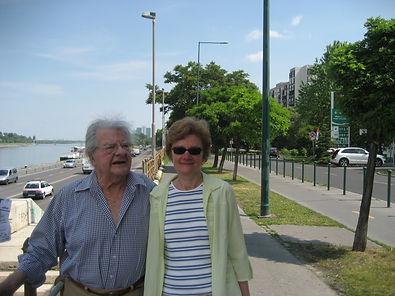 Jacques Perry avec sa femme Katalyn