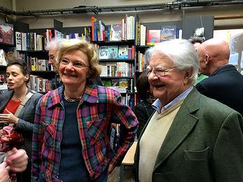 Jacques Perry avec son épouse Katalyn, Librairie L'arbre à Lettres