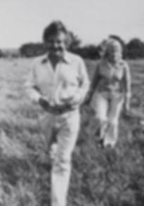 Jacques Perry avec sa femme Jeanne