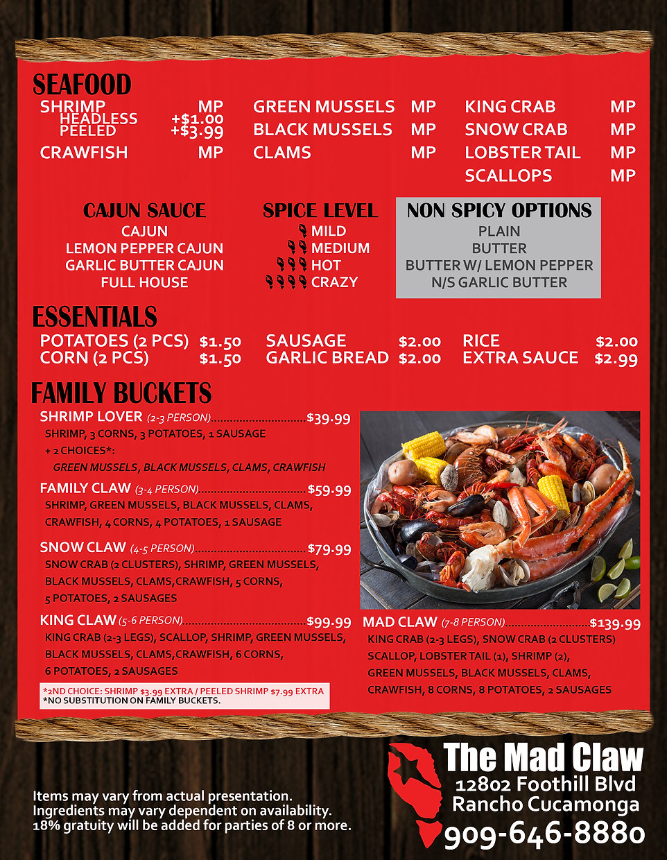 THE MAD CLAW MENU FRONT PRINT 07 24 20.j