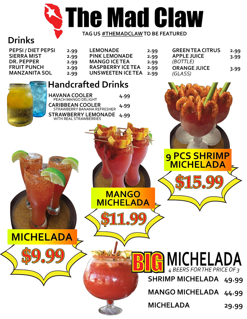 THE MAD CLAW DRINK MENU 08 07 20 FRONT.j
